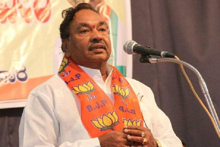 Lie if you have to BJP leader Eshwarappa tells party workers video goes viral