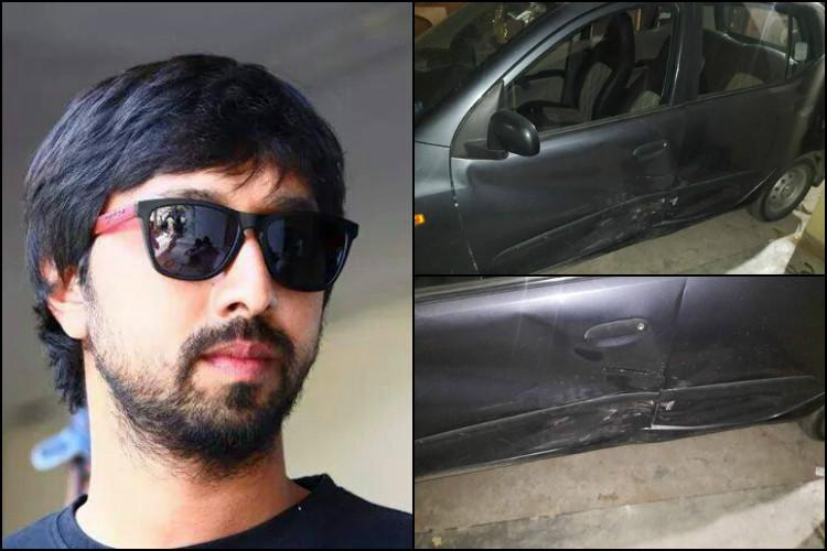 Tollywood director KS Ravindra booked for rash driving after ramming into car