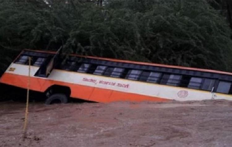 Bus topples off bridge in Karnataka locals rescue passengers in movie-style operation