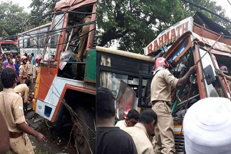 3 killed, 30 injured as bus collides with truck in Kerala