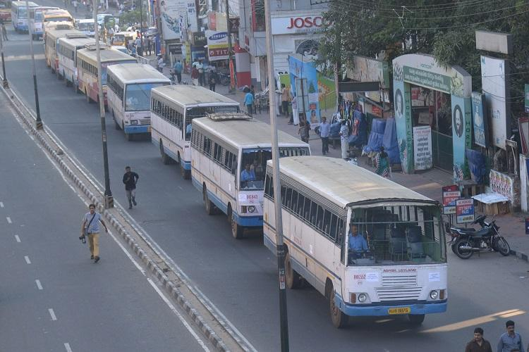 Dont vandalise me Kerala RTC buses take out procession in Tvm to protest attacks