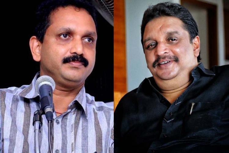Bjp leader K Surendran and Rsp leader Shibu Baby John
