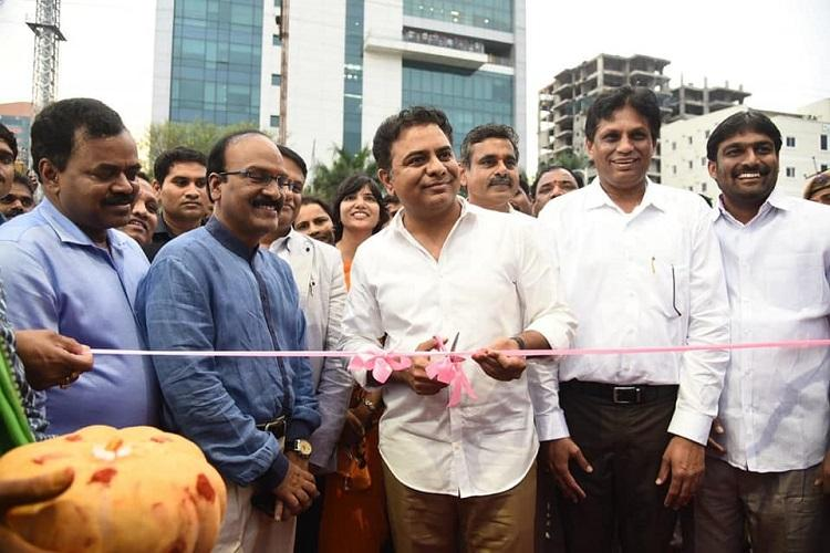 Im not happy with Hyd roads either will fix them says Telangana Minister KTR