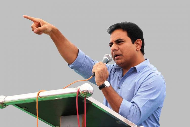 Scamgress is states number one enemy Telangana Minister KTR hits out at Congress