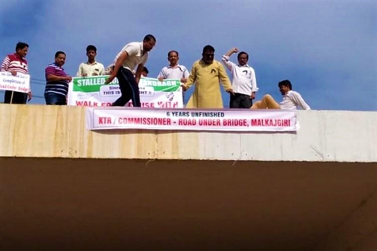 Tired of apathy citizens name road project in Secunderabad after KTR