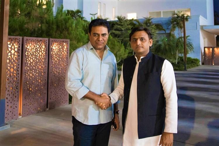 KTR meets Akhilesh Yadav in Lucknow sparks speculation on Federal Front
