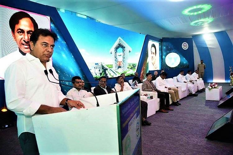 Work begins on Rs 946 cr IMAGE Tower in Hyderabad KTR lays foundation stone