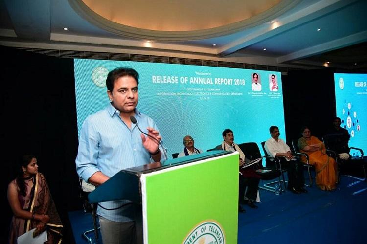 Telanganas IT exports grow by 932 per cent KTR releases annual report