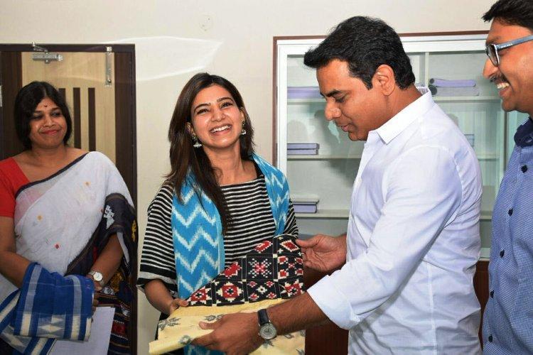 Its official Actress Samantha to be brand ambassador for Telangana handlooms