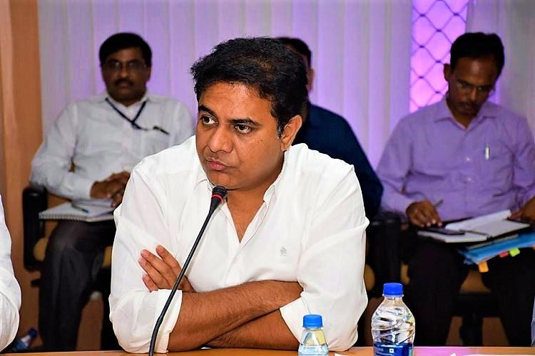 Wave of panic among investors after land scam writes Economic Times KTR issues rebuttal