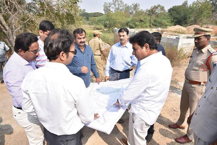 Telangana to develop another IT cluster in Hyderabad KTR inspects Budvel area