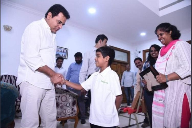 KTR fulfils wish of 7-year-old Hyd mountaineer who scaled Africas tallest peak