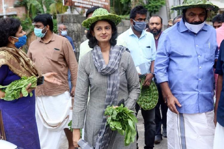 Kerala Agricultural Director K Vasuki and former MLA V Sivankutty