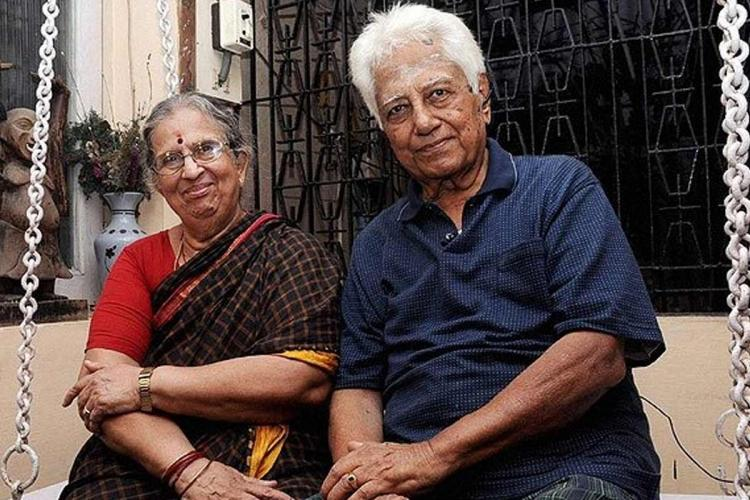 Viswanathan Anands father with his wife