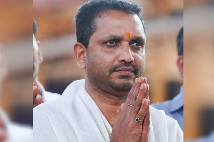 K Surendran at Sabrimala