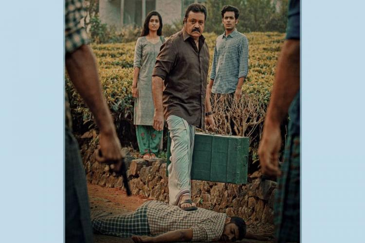 Suresh Gopi in the first look poster of Kaaval