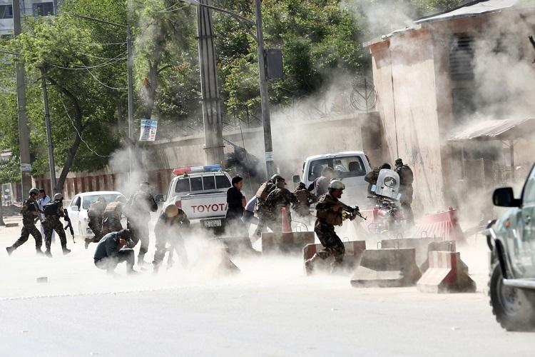 At least 40 killed in twin Kabul bombings ISIS claims responsibility