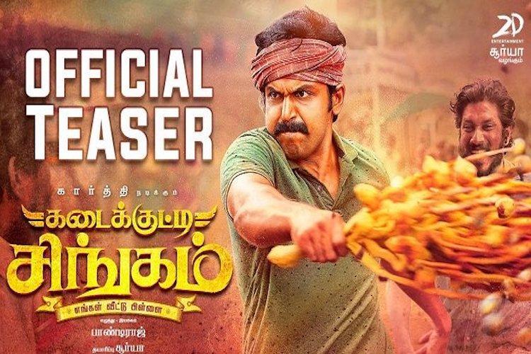 Karthis Kadaikutty Singam trailer out