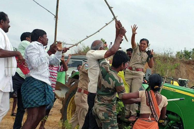 Attack on woman forest officer Accused TRS leader 15 others withdraw bail petition