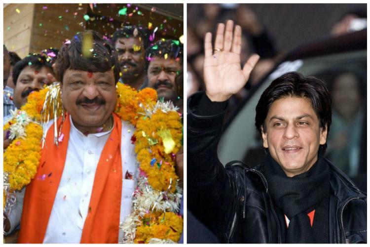 He mocked King Khan now SRK fans hit back with kailashvijayvargiyaleaveindia
