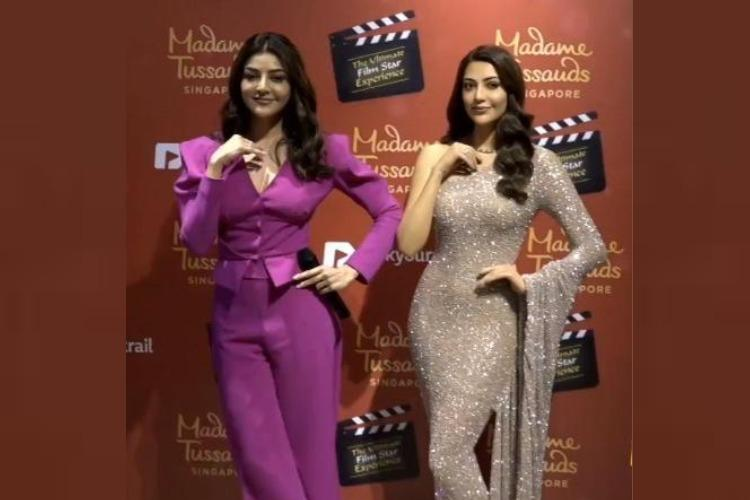 Kajal Aggarwal wax replica unveiled in Madame Tussauds Singapore