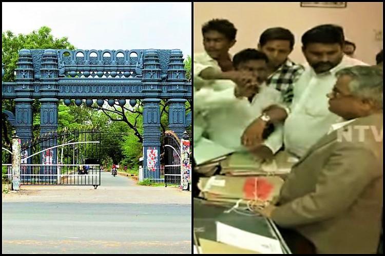 Kakatiya University students vandalise VC chambers allege discrepancies in exam results