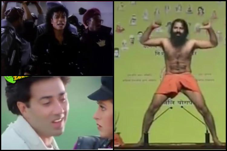Video Sunny Deol MJ and Baba Ramdev grooving to Kala Chashma will make you roll with laughter