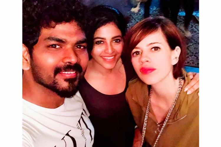 Kalki Koechlin Vignesh Shivan and Anjali selfie
