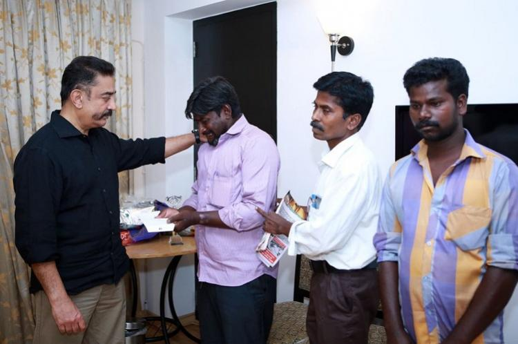 Kamal Haasan gives Rs 10 lakh to family of Usha who died after cop kicked her off bike