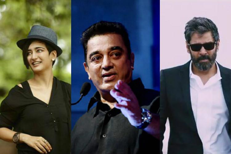 Vikram and Akshara Haasan team up with Kamal Haasan