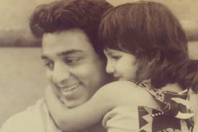 Kamal Haasan with daughter Shruti