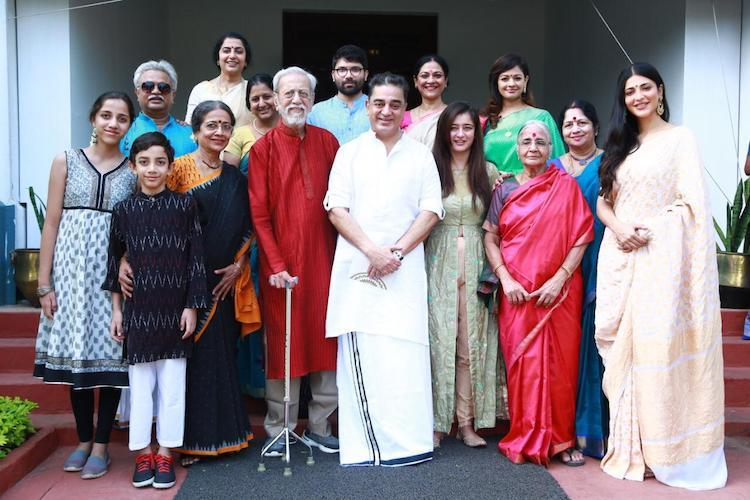 Image result for Kamal Haasan birthday family pic