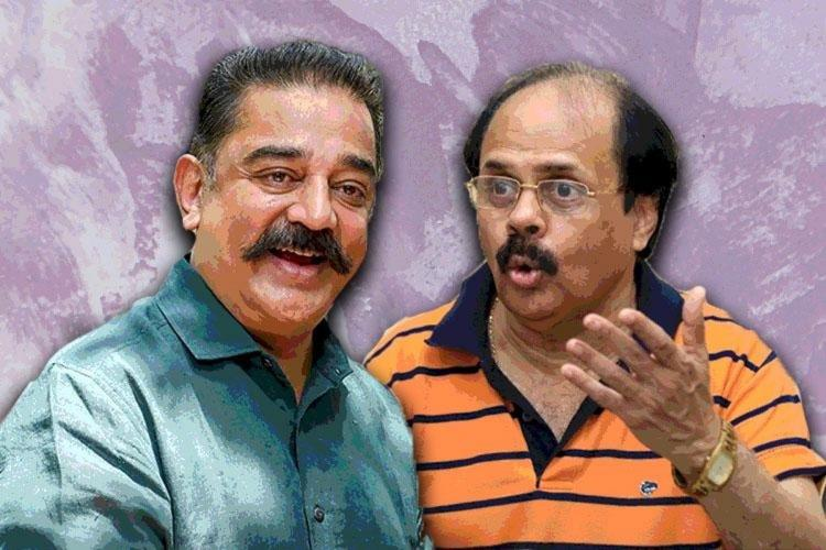 Kamal and Crazy Mohan in stylised background