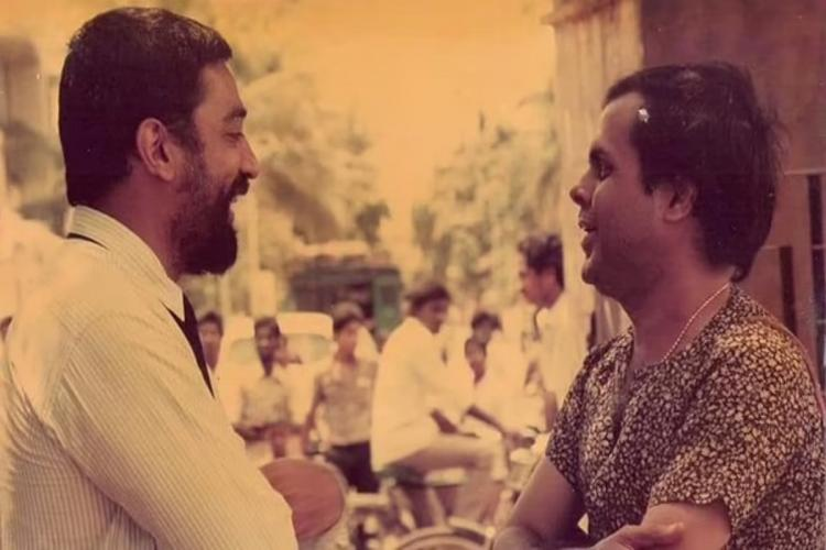 Kamal on the left and Crazy Mohan on the right