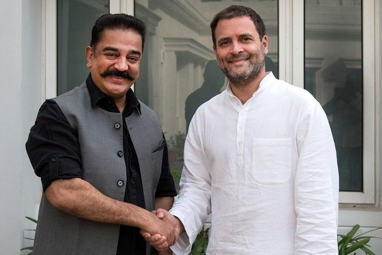 Kamal Haasan meets Rahul Gandhi in Delhi discusses TNs political situation