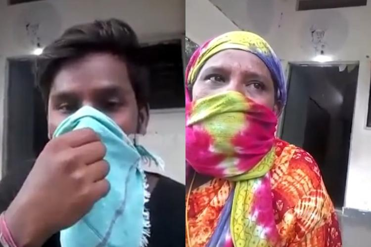 A screenshot from a viral video in Telangana