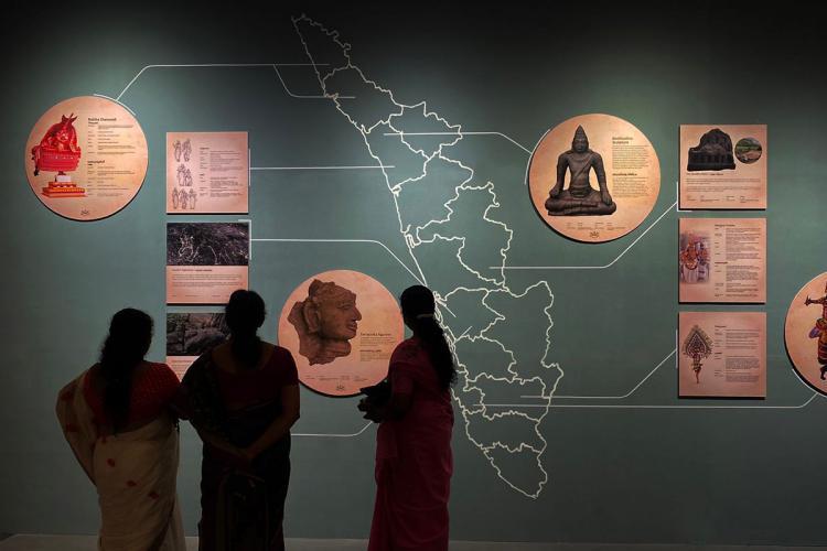 Visitors at the Kanakadhara Museum of Arts and Indigenous Culture