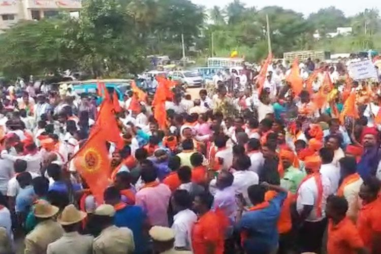 We dont want Jesus statue RSS VHP protest against proposed statue in Karnataka