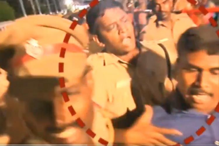 TN Athi Varadhar fest Video of cops attacking journalist goes viral sparks row