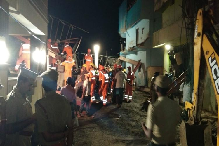 Chennai building collapse Death toll rises to two