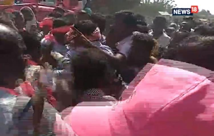 TRS candidates face protests during campaign questioned about development