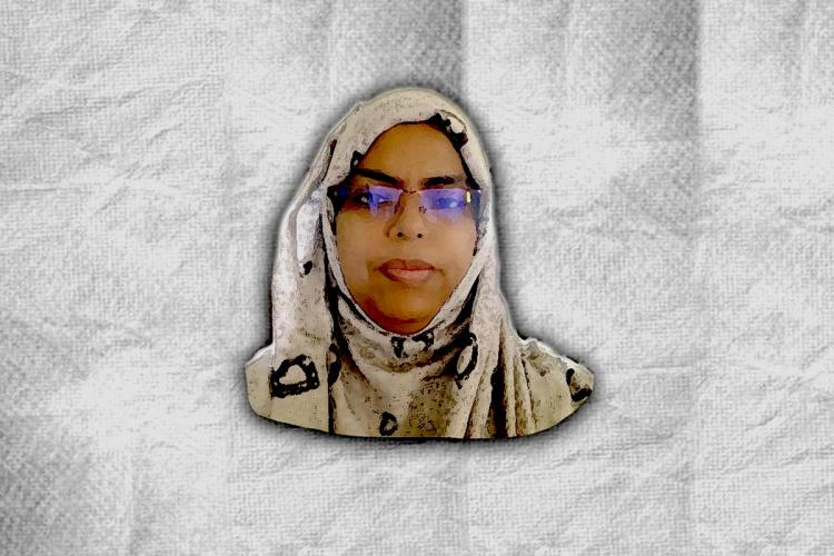 A stylised picture of Hyderabad-based civil and human rights activist Kaneez Fathima
