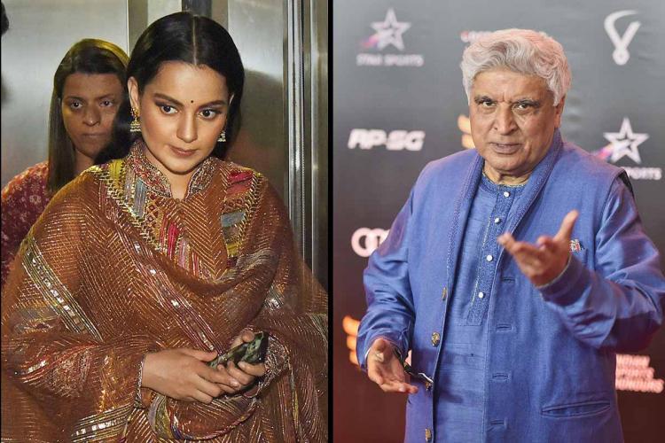 Kangana Ranaut and Javed Akthar