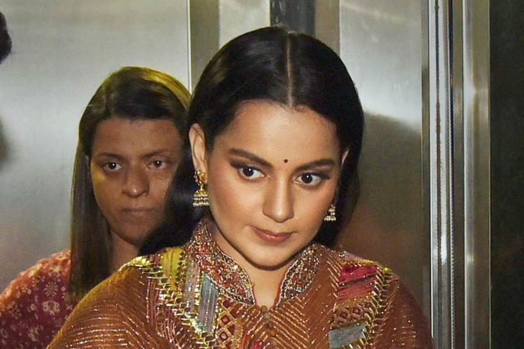A file photo of actor Kangana Ranaut seen at an event in Patna
