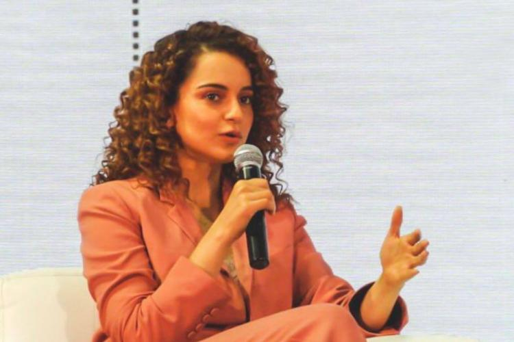 Kangana Ranaut speaking at an event
