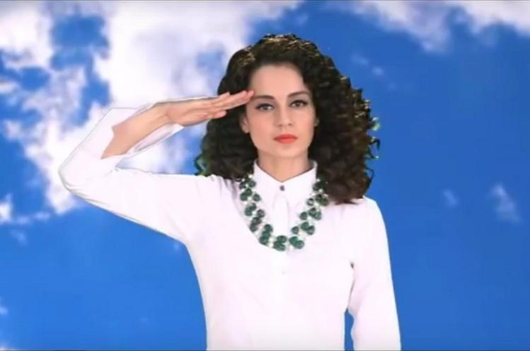 Whats Kangana doing in this tacky Independence Day video