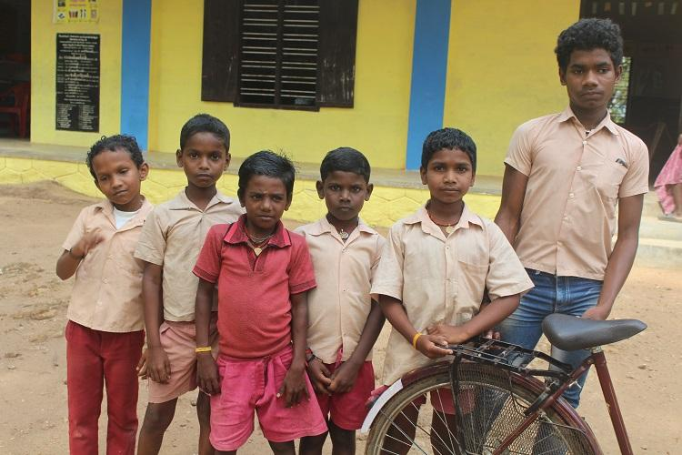 Education for these tribal villagers is a physical odyssey but they persevere