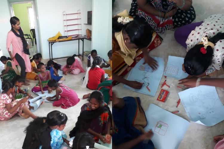 These drawings by kids from Chennai resettlement colonies paint a grim picture