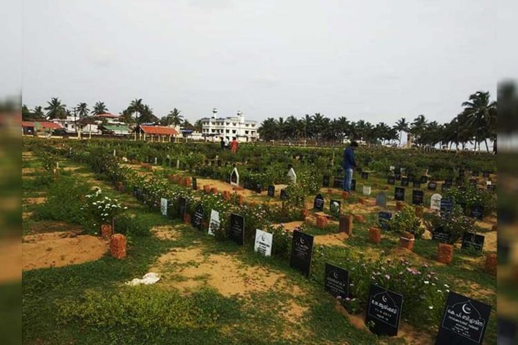 Kannamparambu khabarstan in Keralas Kozhikode district where COVID19 victims are buried