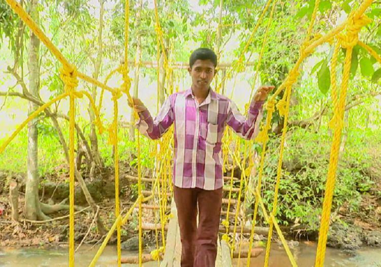 Ktaka man uses up savings to build a bridge so kids in his village can attend school